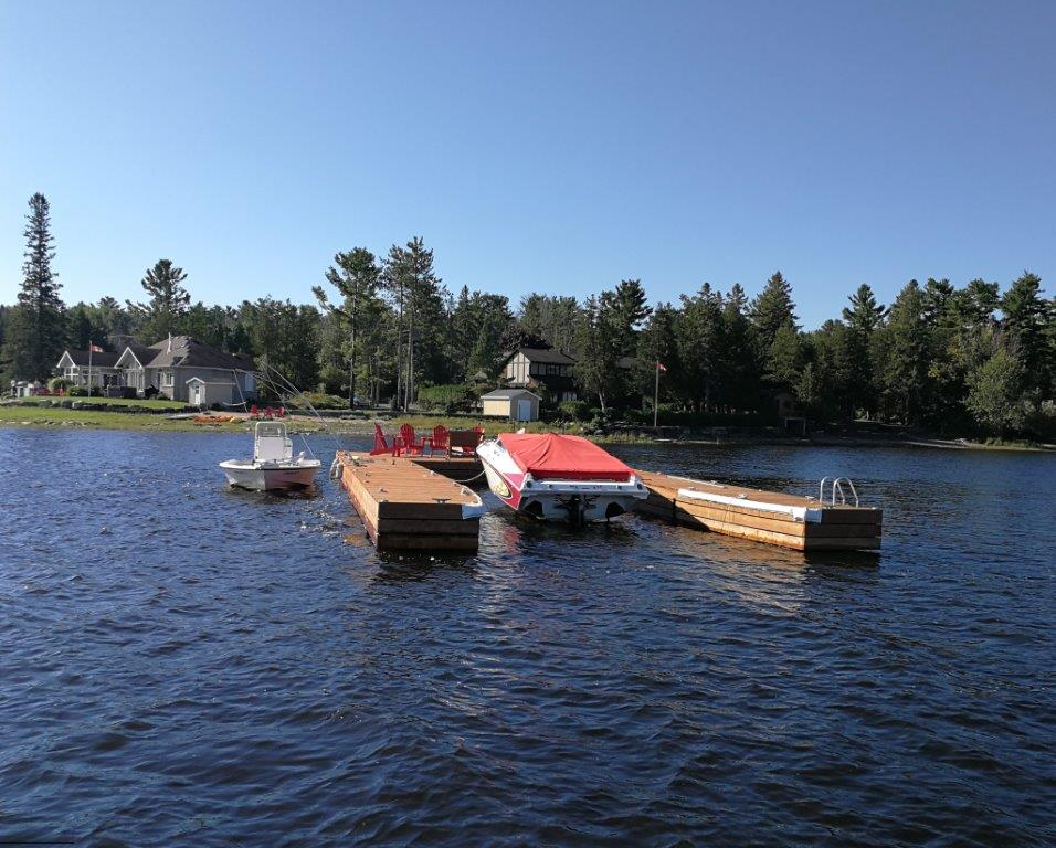 Ottawa river floating custom steel dock