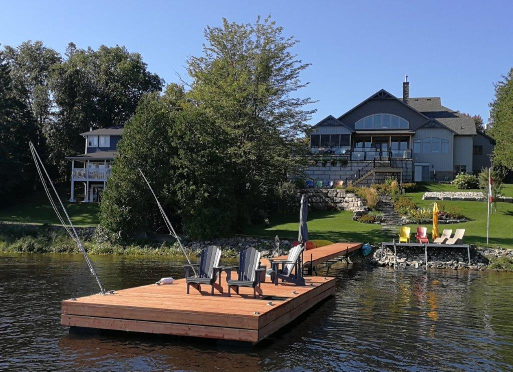Custom dock on Ottawa River